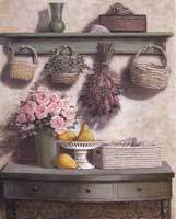 Basket and Roses (Pink)