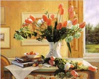 French Tulips And Crab Apples