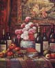 Wine and Floral Still Life(*)