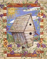 Morning Glory Birdhouse (*)