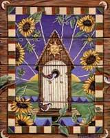 Sunflower Birdhouse (*)