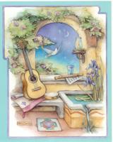 Music Garden With Guitar