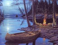 Camp Fire Canoe