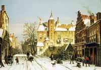 A Dutch Village in Winter