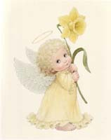 Angel with Daffodil (S) (*)