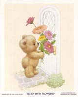 Teddy With Flowers (S) (*)