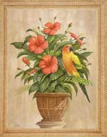 Hibiscus With Parrot (*)