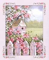 Birdhouse With Tattice Fence (*)