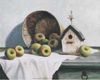 Birdhouse, Basket, Apple (*)
