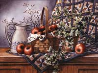 Quilt Pitcher and Apples I (*)