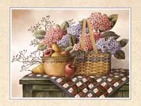 Wicker Basket of Fruit