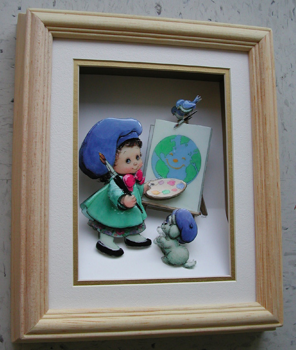 paper tole Paper tole art may be new to you, but it is pretty when new in this post, i took an old piece of paper tole art including the frame and gave it a fresh new look.