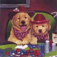 Golden Retriever Poker Pups (*)