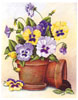 Potted Pansies (*)