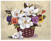 Pansies and Magnolia Basket (*)