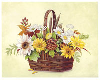 Autumn Flowers Basket (*)